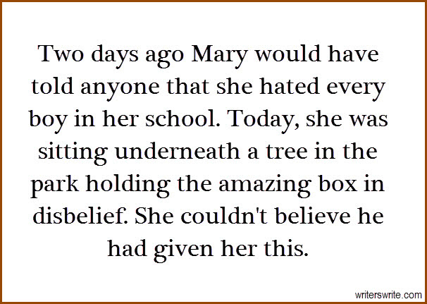 Mary's Amazing Gift Writing Prompt