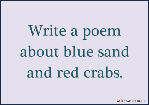 Write a poem about blue sand