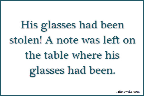 Stolen Glasses Writing Prompt