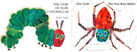 Caterpillar and spider by Eric Carle