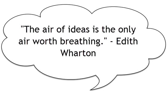 The air of ideas is the only air worth breathing quote by Edith Wharton