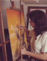 Janny at work in her studio.