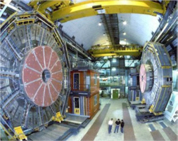 Photo of CERN's underground detectors for analyzing particle