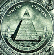 Photo of The Great Seal on the U.S. dollar bill.