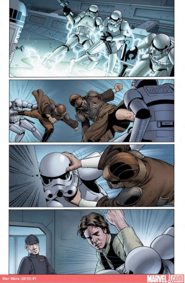 Panel from Marvel's Star Wars #1 Comic Book