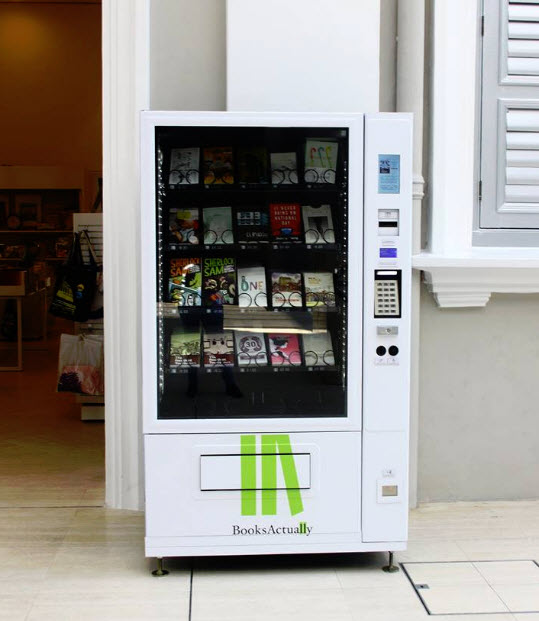 Book vending machine from BooksActually