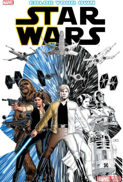 Color Your Own Star Wars Marvel adult coloring book