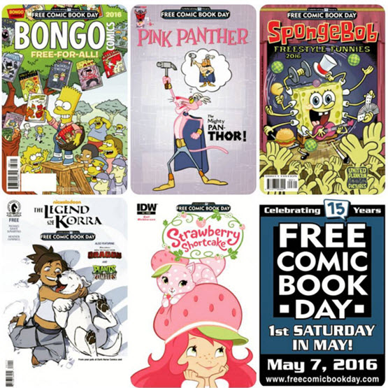 Kids comics on Free Comic Book Day 2016