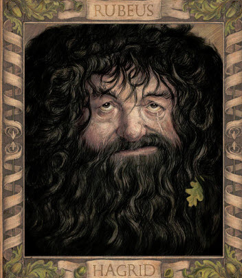 Rubeus Hagrid drawn by Jim Kay in Harry Potter and the Chamber of Secrets Illustrated Edition