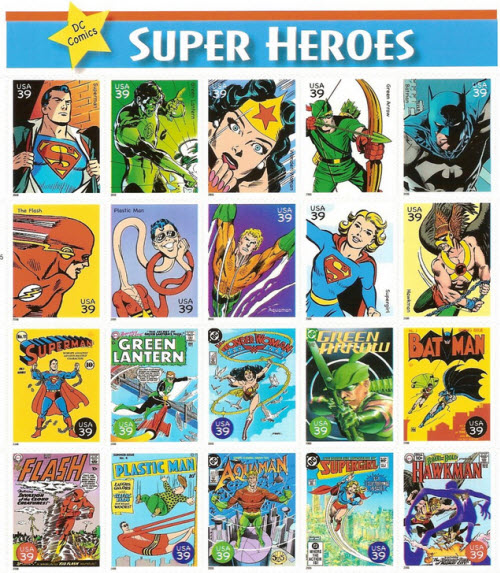 Free Comic Book Day Locations: Comic Book Heroes Get Their Own Stamps