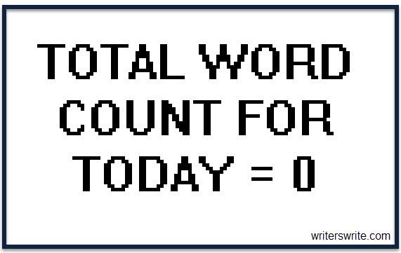 Word Count 0 Writer's Block meme